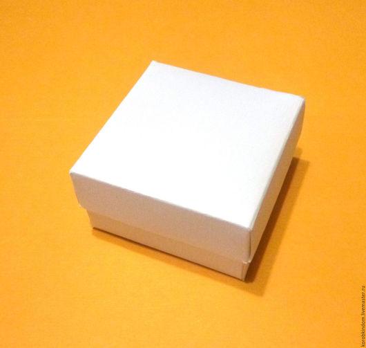 """Упаковка ручной работы. Ярмарка Мастеров - ручная работа. Купить Коробочка 6х6х3 """"крышка-дно"""" белый лен. Handmade. Коробочка"""