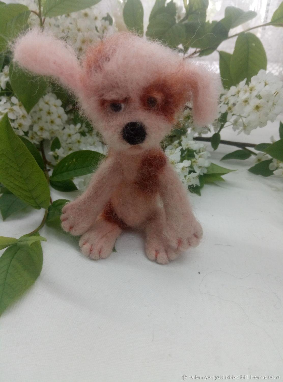 Задумчивый щенок, Войлочная игрушка, Кемерово,  Фото №1
