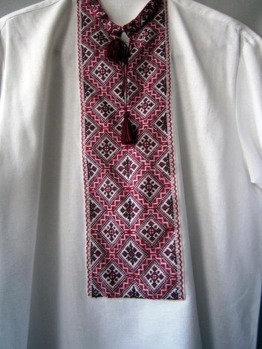 Для мужчин, ручной работы. Ярмарка Мастеров - ручная работа. Купить Рубаха-вышиванка из поплина Карпаты2 р.48-50.. Handmade.