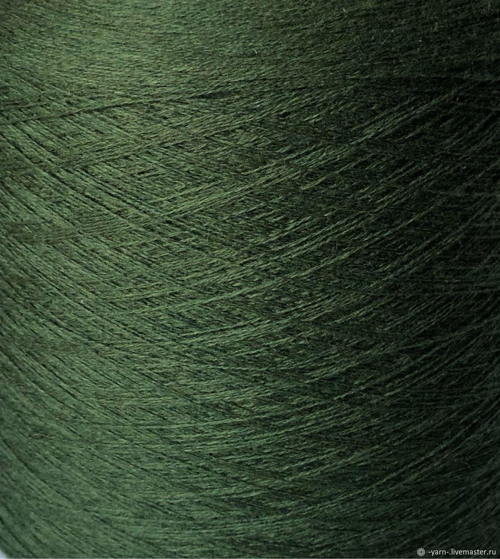 Пряжа Кашемир 2/28 темно-зеленый – купить на Ярмарке Мастеров – N5TVERU | Пряжа, Санкт-Петербург