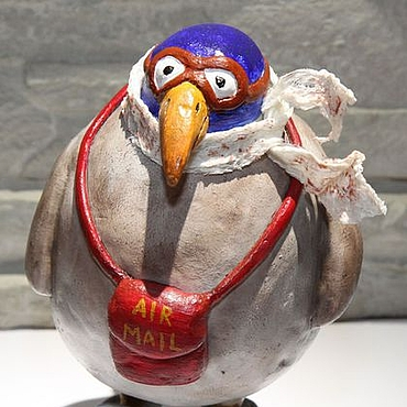 Куклы и игрушки ручной работы. Ярмарка Мастеров - ручная работа Почтовая птица. Handmade.