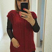 Одежда handmade. Livemaster - original item Knitted women`s vest Vest women`s warm Knitted women`s cardigan. Handmade.