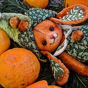 """Мишки Тедди ручной работы. Ярмарка Мастеров - ручная работа Плюшевая зайка """"Мандариновый гном"""". Handmade."""