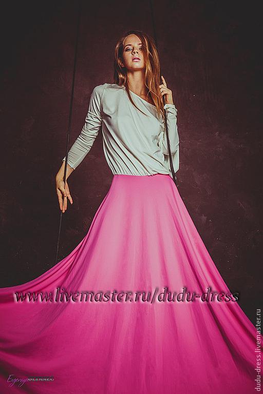Ярмарка Мастеров - ручная работа. Купить Двухцветное платье в пол с Платья  ручной работы. Двухцветное платье в пол с вырезом на спине. e4459725cc702