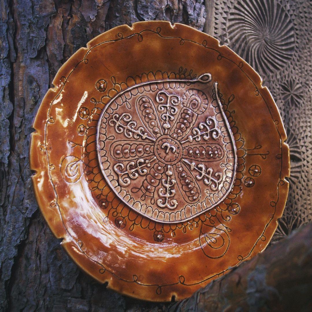 Керамическая тарелка ручной работы, Посуда, Москва, Фото №1