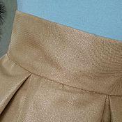 Одежда handmade. Livemaster - original item The skirt is Golden, MIDI, pleated, jacquard taffeta. Handmade.