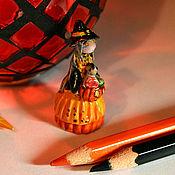 Куклы и игрушки ручной работы. Ярмарка Мастеров - ручная работа Ева в костюме ведьмочки. Handmade.