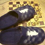 Обувь ручной работы handmade. Livemaster - original item Felted Slippers mens Grandmaster. Handmade.