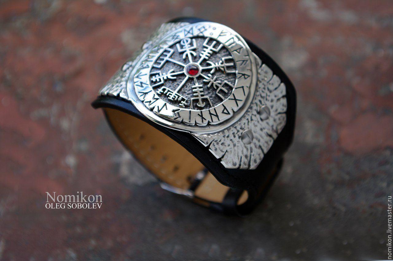 Runic compass (Vegvisir -'the signpost') 'brun rune' or Morskoye, Bead bracelet, St. Petersburg,  Фото №1