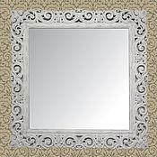 Для дома и интерьера ручной работы. Ярмарка Мастеров - ручная работа Зеркало в деревянной раме 820х820 мм, стиль прованс. Z1а. Handmade.