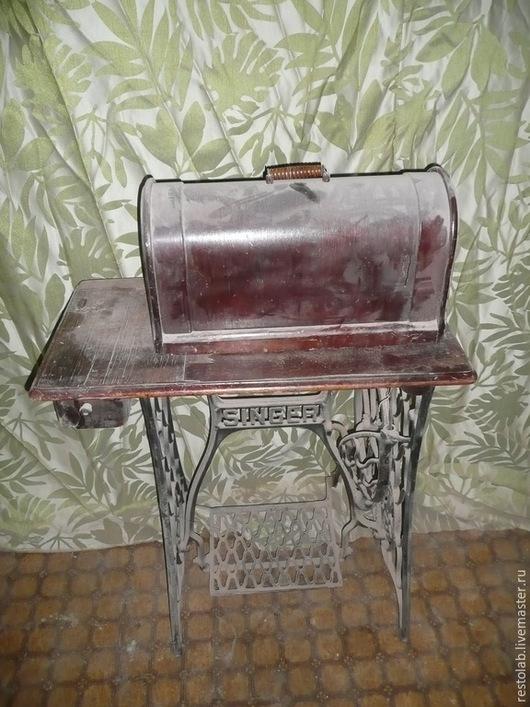 Реставрация. Ярмарка Мастеров - ручная работа. Купить Реставрация старинной швейной машинки зингер.. Handmade. Коричневый, антиквариат
