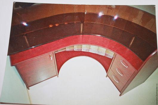 Мебель ручной работы. Ярмарка Мастеров - ручная работа. Купить 2005год ресепшен. Handmade. Бордовый, стойка, стекло цветное, дсп