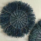 Для дома и интерьера handmade. Livemaster - original item Wicker basket on the wall, wicker panel; wicker plate. Handmade.