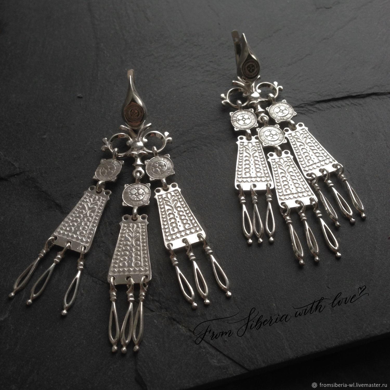 0f6d32c6f341 Серьги (СН231) серебро 925 – купить в интернет-магазине на Ярмарке Мастеров  с ...