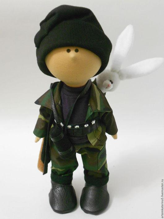 """Куклы тыквоголовки ручной работы. Ярмарка Мастеров - ручная работа. Купить """"Зайца не видали?"""". Handmade. Хаки, единственный экземпляр, фетр"""