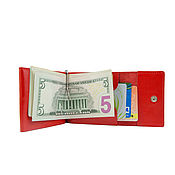 Сумки и аксессуары handmade. Livemaster - original item One genuine leather money clip (red). Handmade.