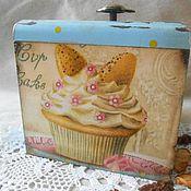 """Для дома и интерьера ручной работы. Ярмарка Мастеров - ручная работа Короб для хранения """"Cup Caks"""". Handmade."""