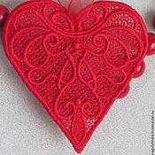 Подарки к праздникам ручной работы. Ярмарка Мастеров - ручная работа Кружевная валентинка. Handmade.