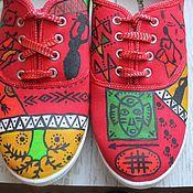"""Обувь ручной работы. Ярмарка Мастеров - ручная работа Летние тканевые тапочки """"Арабика"""". Handmade."""