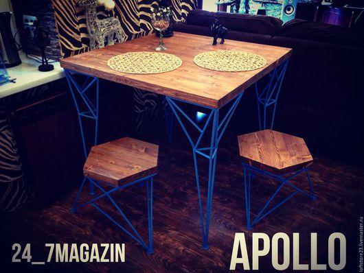 Мебель ручной работы. Ярмарка Мастеров - ручная работа. Купить Стол APOLLO. Handmade. Комбинированный, столешница, мебель ручной работы