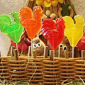 Косметика ручной работы handmade. Livemaster - original item Handmade soap Cockerel on a stick as a gift for children sweets. Handmade.