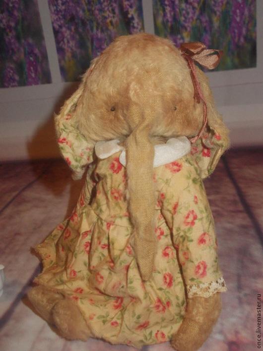Мишки Тедди ручной работы. Ярмарка Мастеров - ручная работа. Купить Марта. Handmade. Слон, подарок, глаза стеклянные