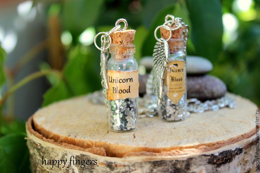 Pendant 'Jar of potion' Harry Potter unicorn Blood, Pendants, Elektrostal,  Фото №1