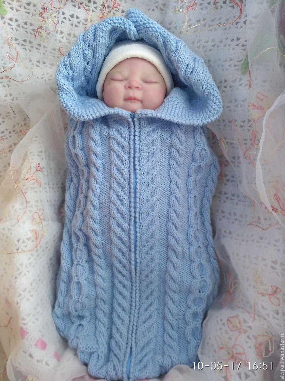 Вязание кокон для новорожденного 87