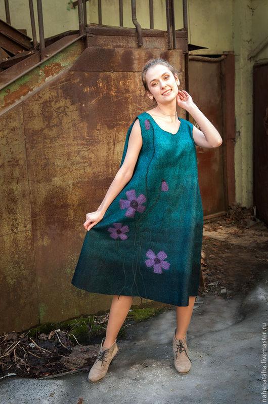 """Платья ручной работы. Ярмарка Мастеров - ручная работа. Купить Платье-сарафан валяное """"Примула"""". Handmade. Платье, платье из войлока"""