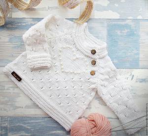 Вязание кофточка для малышки 6
