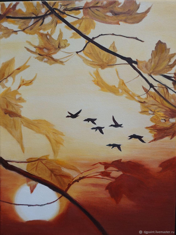 Снова птицы в стаи собираются, Картины, Зеленоград,  Фото №1