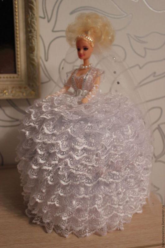 """Техника ручной работы. Ярмарка Мастеров - ручная работа. Купить Кукла-шкатулка """"Невеста"""". Handmade. Белый, свадьба, стразы"""