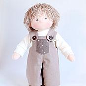 Куклы и игрушки ручной работы. Ярмарка Мастеров - ручная работа Текстильная кукла-мальчик. Handmade.