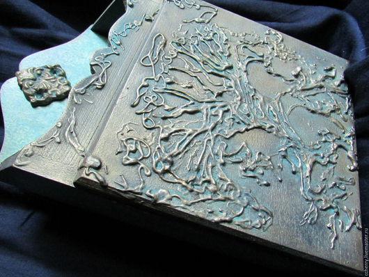 """Прихожая ручной работы. Ярмарка Мастеров - ручная работа. Купить Ключница """"Дерево друидов""""..... Handmade. Морская волна, металл"""