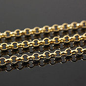 Материалы для творчества handmade. Livemaster - original item 50 smcapache ROLO chain 2,5 mm gold plating th. Korea (2189). Handmade.