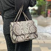 handmade. Livemaster - original item Bag made of natural python leather. Handmade.