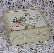 Для дома и интерьера ручной работы. Ярмарка Мастеров - ручная работа Чайная шкатулка декупаж. Handmade.