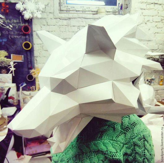 Шляпы ручной работы. Ярмарка Мастеров - ручная работа. Купить Маска зверя. Handmade. Белый, маска животного, витринистика