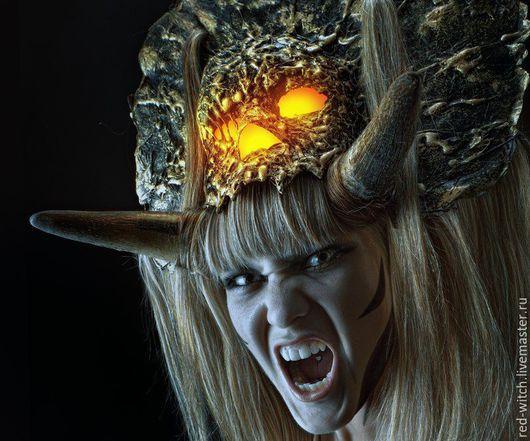 Ролевые игры ручной работы. Ярмарка Мастеров - ручная работа. Купить Демоническая маска. Handmade. Золотой, жрицы, смерть, демон