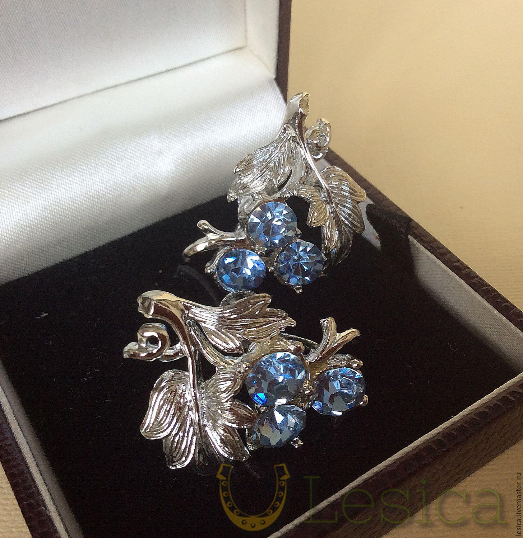 The clips on the screws (earrings) Coro, USA vintage, Vintage earrings, Ramenskoye,  Фото №1