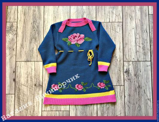 Одежда для девочек, ручной работы. Ярмарка Мастеров - ручная работа. Купить Платье-туника для девочки из кашемира с мериносом. Авторская работа. Handmade.