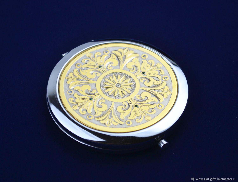 Зеркальце с орнаментом Златоуст, Зеркала, Златоуст,  Фото №1