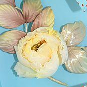 Украшения handmade. Livemaster - original item Yellow rose brooch flower silk. Handmade.