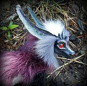 Куклы и игрушки ручной работы. Ярмарка Мастеров - ручная работа Фиолетово-черный Драконо-лис. Handmade.