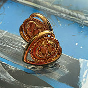 Винтаж handmade. Livemaster - original item Fish. earrings. American vintage. the 1980s.. Handmade.