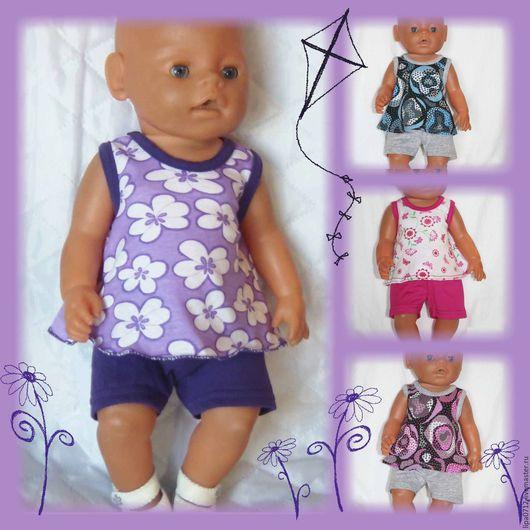 Одежда для кукол ручной работы. Ярмарка Мастеров - ручная работа. Купить Летний трикотаж (в ассортименте). Handmade. Беби бон