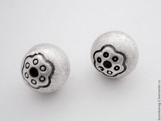 Для украшений ручной работы. Ярмарка Мастеров - ручная работа. Купить Бусины шарики, серебро 925 проба 10мм. Handmade.