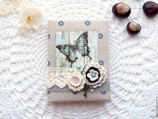 """Блокноты ручной работы. Ярмарка Мастеров - ручная работа. Купить Блокнот """"hope"""". Handmade. Голубой, блокнот с нуля, блокнот в подарок"""