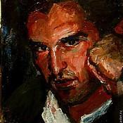 Картины и панно ручной работы. Ярмарка Мастеров - ручная работа портрет мужчины. Handmade.
