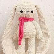 Куклы и игрушки handmade. Livemaster - original item Knitted Bunny with long ears plush yarn. Handmade.